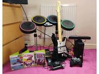 Xbox 360 Elite 250Gb, Rock band and Kinect