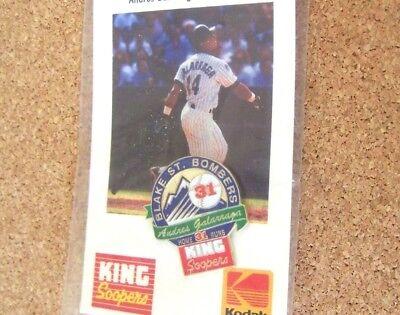1996 Colorado Rockies Blake St Bombers Pin  1 Andres Galarraga King Soopers