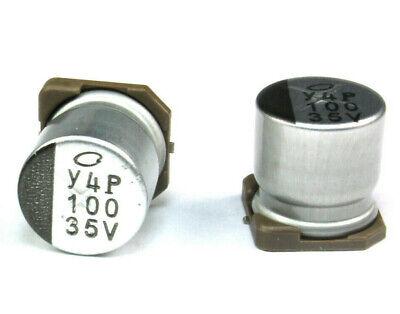 25pcs 100uf 35v Ux Nichicon Radial Electrolytic Capacitor Smd Low Impedance