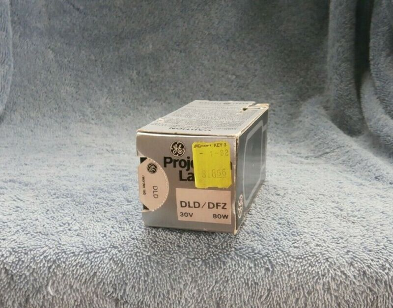 Vtg GE GENERAL ELECTRIC Projection Lamp Bulb DLD/DFZ 80W 30V