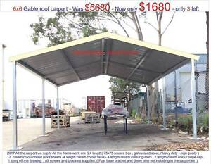 new  gable  carport 6 x 6 $ 1680 or 6  x 9 $ 2550 Thomastown Whittlesea Area Preview