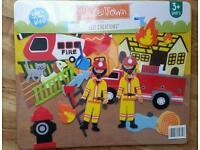 Kids Fireman Felt Creations Board NEW SEALED
