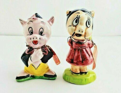 Porky Pig & Petunia 1979 Warner Brothers Carosello Italy Figurines