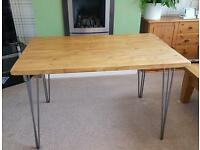 Solid wood rustic/farmhouse style dining table
