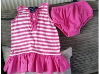 GENUINE POLO RALPH LAUREN DRESS AND KNICKERS