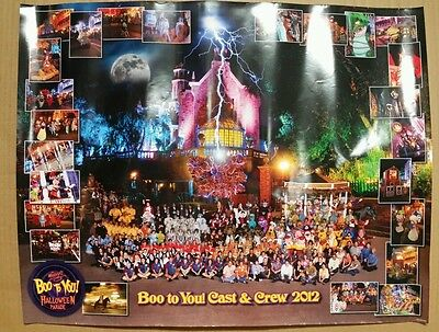 Boo To You! Cast & Crew 2012 Disney Halloween Parade Poster](Boo To You Halloween Parade)