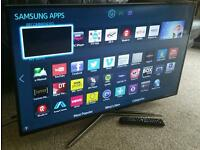 "SAMSUNG 40"" Ultra-Slim LED FULL HD 3D SMART TV with Built in WiFi, Freeview HD, New Condition."