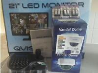QVIS CCTV CAMERAS, MONITOR, KEYBOARD BNIB