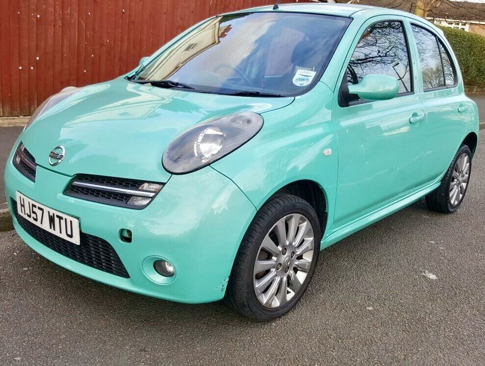 nissan micra 57reg 2007 1 2 5dr sport alloys mint green great condition mot 27 10 2017 very. Black Bedroom Furniture Sets. Home Design Ideas