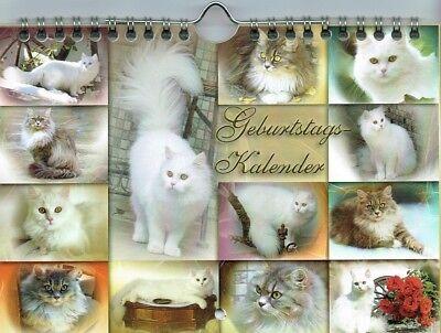 Katzen Kalender, immerwährend, dekorativ, edel, stabil, 2 x DIN A5