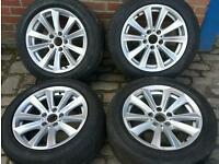 "17"" Genuine Bmw 5 series alloys wheels will fit 3 & 7 series VW T5 Van too"