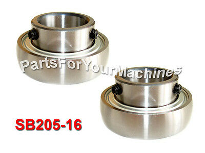 2 Sealed Insert Ball Bearings Sb205-16 Sb 205-16 1 Axle Self-aligning