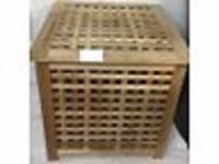 Ikea Solid Wood Laundry Storage Box Side Table Chest Large used