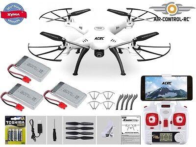 DE Version SYMA X5HW Quadrocopter Drohne mit WiFi Kamera 2,4 Ghz + 3 LiPo Akkus