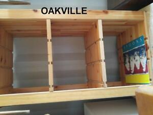 "Oakville LP STORAGE 37x17x20""h SHELVES Shelf IKEA Vinyl Record Organization Solid Wood Pine"