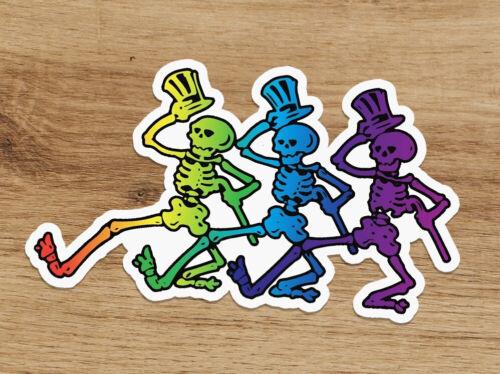 Grateful Dead Dancing Skeletons Premium Quality Deadhead Decal Sticker 3 in