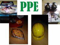 Helmet Googles Mask and Ear muffs PPE equipment