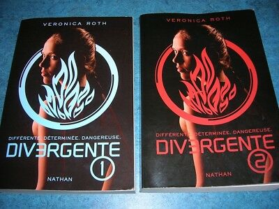 DIVERGENTE / VERONICA ROTH / TOMES 1 ET 2 / GRAND FORMAT (ED. NATHAN) d'occasion  Tervuren