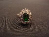 Tourmaline & Diamond Ring - 18ct White Gold