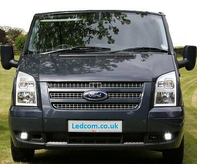 LED Day Running Lights Kit DRL Ford Transit Mk7 Van and Motorhome 2006 to 2014