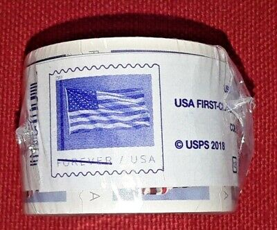 New One (1) Roll /Coil of 2019 US FLAG FOREVER APU 100 Postage Stamps. Sc # 5342