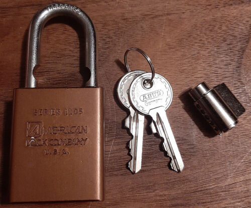 American Lock Series 1105 Padlock - With Abus Core Y1 keyway  GREAT FOR TRAINIG