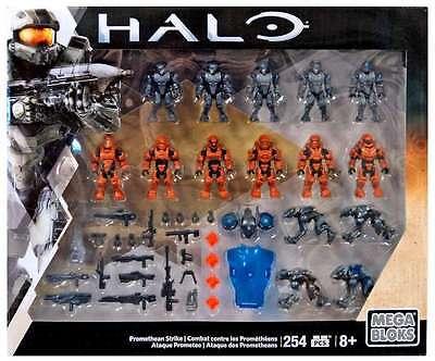 Mega Bloks Halo Figures Promethean Strike Set New Figure Action Building Armor