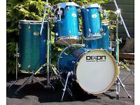 Dixon Turbo - Crazy 5pc Kit As New / Never Played (Jungle Questlove Hipgig Metrojam Skin sizes)