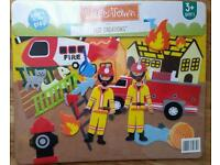 Kids Fireman Felt Creations Board NEW