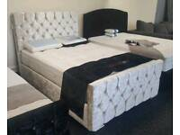 Half price brand new stunning pearl bed frames and mattresses free delivery 07808222995