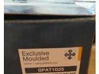 Box of 8 GET Single gang pattress boxes