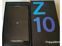 BLACKBERRY Z10 ~ BLACK ~ UNLOCKED BOX & CHARGER