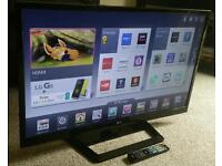 "LG 42"" Slim LED FULL HD SMART TV WITH BUILT IN WiFi, FREEVIEW HD, 4X HDMI NEW CONDITION FULLY WORKN"