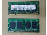 1Gb (2x512Mb) laptop SO-DIMM PC4200S memory