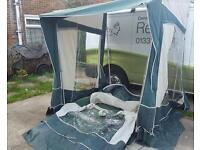 Bradcot caravan porch awning with alloy poles