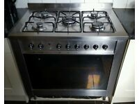 INDESIT DUAL FUEL RANGE COOKER ..........WARRANTY AND DELIVERY INCLUDED