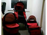 TWING PUSHCHAIR/PRAM 3 PIECE WITH BAG EXCELLENT CONDITION