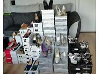 JOBLOT WORTH £3000 ONLY FOR £1200 BRAND NEW BOXED LADIES BRANDED HEELS AND FLAT SHOES