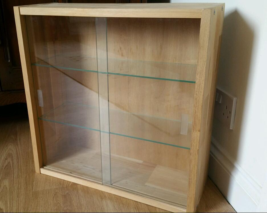 Ikea Jarna Glass Display Cabinet In Cwmbran Torfaen