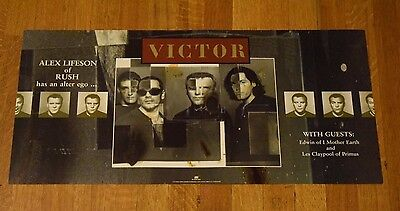 "Alex Lifeson of Rush ""Victor"" 1996 Original 2-Sided Promotional Store Art Poster"