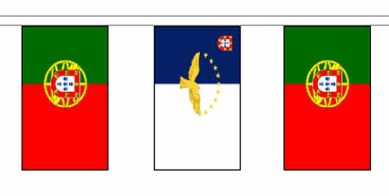 Portugal Azores & Portugal Polyester Flag Bunting - 20m with 56 Flags