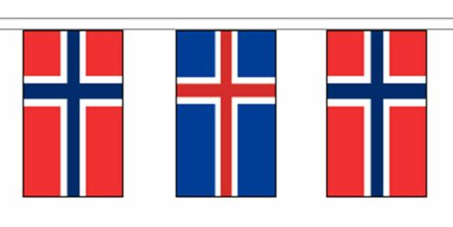 Norway Friendship Flag Polyester Bunting - Premium Quality