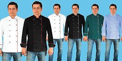 Adam Executive Uniform Jacket Men Chef Catering Kitchen Long Sleeve Pen Pocket  Executive Chefs Jacket