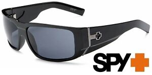 NEW Spy HAILWOOD Sunglasses Shiny Black with Grey Lenses Made in ITALY
