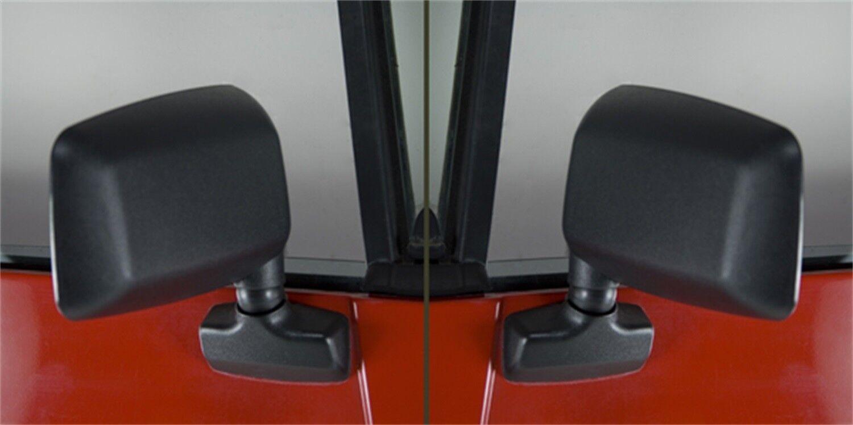 Rugged Ridge Door Mirror 2 Piece Kit Black Jeep Wrangler Yj Tj 87-02 X 7694