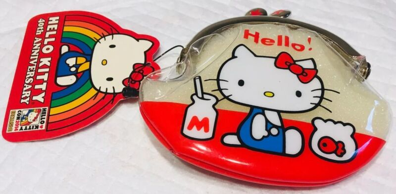 Sanrio Hello Kitty Con Loungefly 40th Anniversary Rare Replica Coin Purse NWT