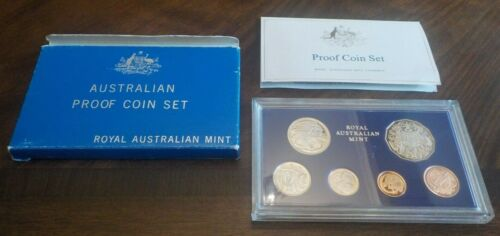 1983 AUSTRALIA - OFFICIAL PROOF SET (6) - KANGAROO - RAM PKG - RARE!