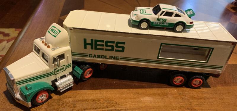 1992 Hess Truck 18 Wheeler and Racer Porsche Car