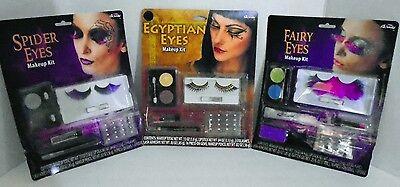 HALLOWEEN EYE MAKEUP KITS – CHOICE of SPIDER EYES – EGYPTIAN EYES or FAIRY EYES - Halloween Eye Makeup Kits