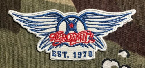 Aerosmith Embroidered Patch A075P  Cream Hendrix Led Zeppelin